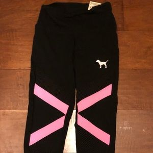 Pink high waist leggings new with tags